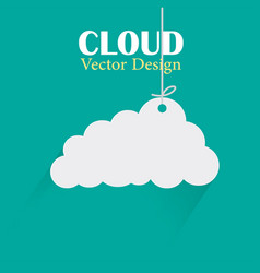 cloud design template hanging cloud green b vector image