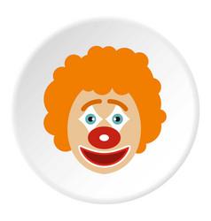 Clown face icon circle vector
