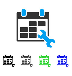 Configure timetable flat icon vector
