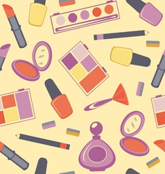 Cosmetics seamless pattern vector image