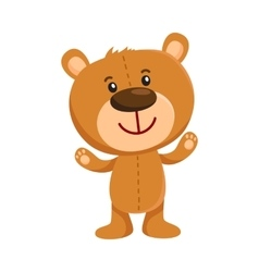 Cute retro style teddy bear character standing vector image