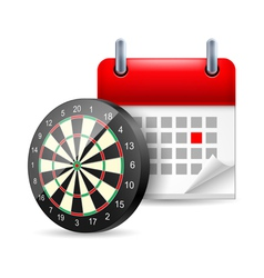 Darts and calendar vector image