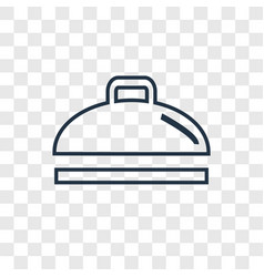 Dish concept linear icon isolated on transparent vector