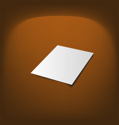 Document blank mock-up realistic vector