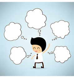 Dream Business man cartoon vector image