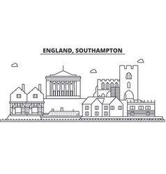 England southampton architecture line skyline vector