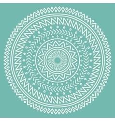 Ethnic mandala Tribal hand drawn line geometric vector image