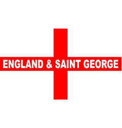 Flag of england and saint george vector