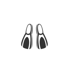 Flippers icon isolated on a white background vector