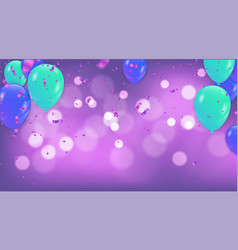 fuchsia metallic baloons on the upstairs with vector image