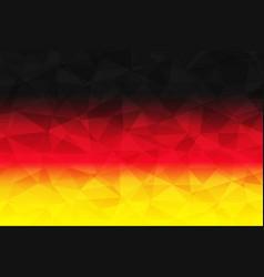 Germany flag polygonal vector