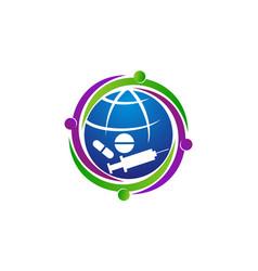 Global medicine concern vector
