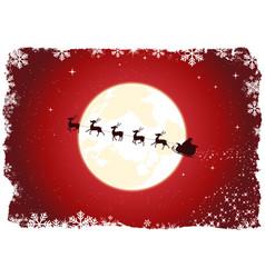 grunge santas sleigh vector image