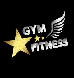 Gym amp fitness vector
