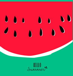 Hello summer watermelon design for vacation season vector