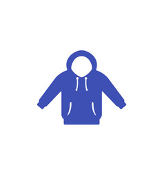 Hoodie icon on white vector