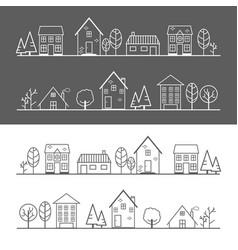 Icon village vector
