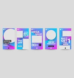 Ig stories design template master vector