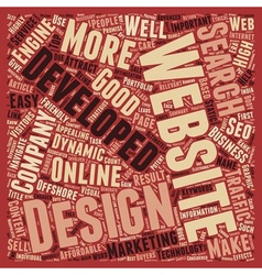 Importance of Website Design and Development text vector image