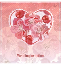invitation for wedding vector image vector image