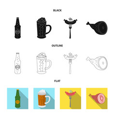 Isolated object of pub and bar logo set of pub vector