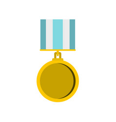 medal for services icon flat style vector image