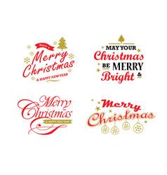 Merry christmas lettering design vector