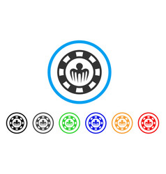 Monster casino chip icon vector