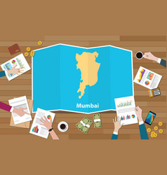 Mumbai bombay india city region economy growth vector