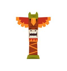 native indian totem pole a vector image