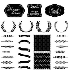 Nature design elements vector