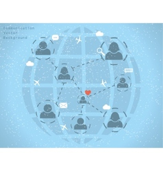 network communication vector image
