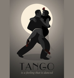 passionate couple dancing tango-02 vector image