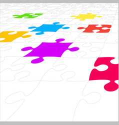 Perspective background puzzle jigsaw puzzle vector