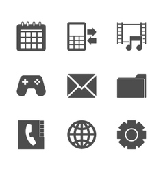 Phone Menu Icons Set vector