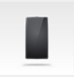phone with a white screen object electronics on vector image