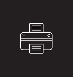 Printer line icon outline logo vector