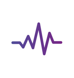 pulse or heartbeat icon medical sign web symbol vector image