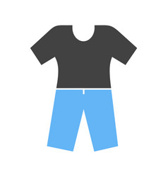 Pyjamas suit icon vector
