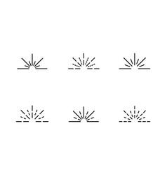 Rays icon symbol set simple design vector