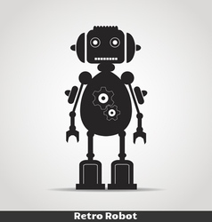 Robot with antena copy vector image