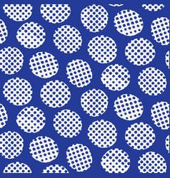 Seamless pattern hand drawn imperfect polka dot vector