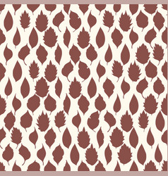 Seamless pattern leaves on light background vector