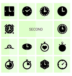 second icons vector image
