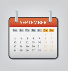 September 2018 calendar concept background vector