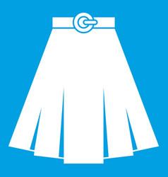 Skirt icon white vector