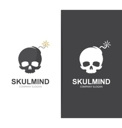 skull and bomb logo combination Explosion vector image