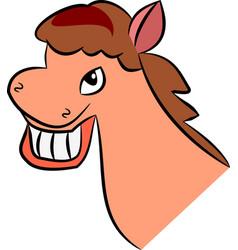 Smiling horse girl beauty vector