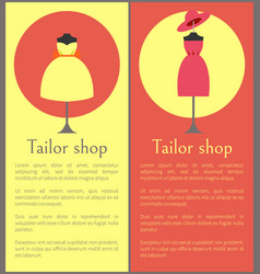 tailor shop framed banners vector image