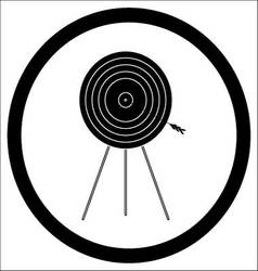 Target goal of black icon vector image